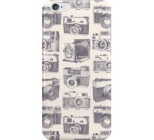 Vintage photo cameras iPhone Case/Skin