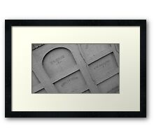 Haunted 12 Framed Print