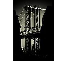 Manhattan Bridge in Brooklyn Photographic Print