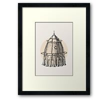 Steam punk rocket Framed Print
