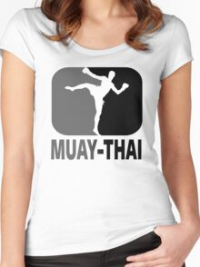 Muay Thai - Thai Boxing Women's Fitted Scoop T-Shirt