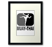 Muay Thai - Thai Boxing Framed Print