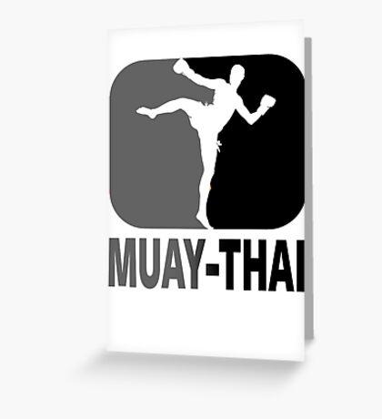 Muay Thai - Thai Boxing Greeting Card