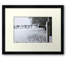 Snowy field Framed Print