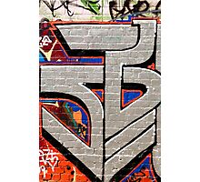 Abstract Graffiti detail on the textured brick wall Photographic Print