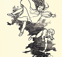 The Zankiwank & the Bletherwitch by Shafto Justin Adair Fitz Gerald art Arthur Rackham 1896 0097 Tumbling by wetdryvac