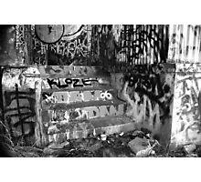 """ Dear Urban Decay in B&W "" Photographic Print"