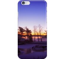 Winter Solstice over Jones Creek iPhone Case/Skin
