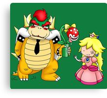 Princess Peach X Bowser Canvas Print
