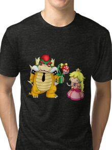 Princess Peach X Bowser Tri-blend T-Shirt