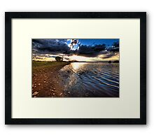 Sunset over Granite Mountain Framed Print
