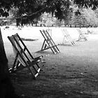 London. Park Chairs in Black and White. Great Britain 2009.  by Igor Pozdnyakov