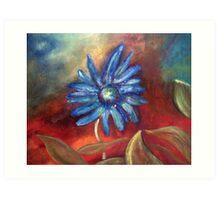 Blue Daisy - Landscape Art Print