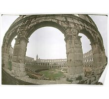 Daytime View of Roman Coliseum. Poster