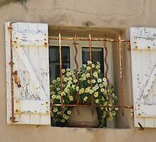 Pretty window, St Tropez by BronReid