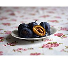 Just Plums Photographic Print