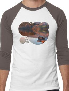 Romantic evening at the lake | waterscape photography Men's Baseball ¾ T-Shirt