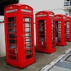 London. Phone Booths on Belgrave Street. Great Britain 2009 by Igor Pozdnyakov