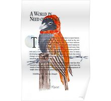 Red Bishop in Soft-cover Poster