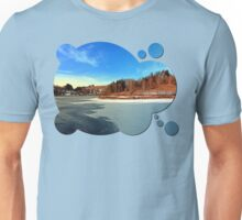 Frozen river panorama   waterscape photography Unisex T-Shirt