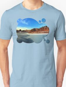 Frozen river panorama | waterscape photography T-Shirt