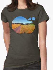 Country road with scenery | landscape photography Womens Fitted T-Shirt