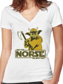 May The Norse Be With You Women's Fitted V-Neck T-Shirt