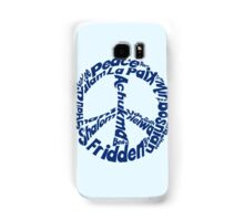 Peace in different languages Samsung Galaxy Case/Skin