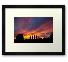 New Years Day Sunset 1 Framed Print