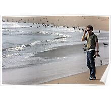 Hip Hop Star By The Beach Poster