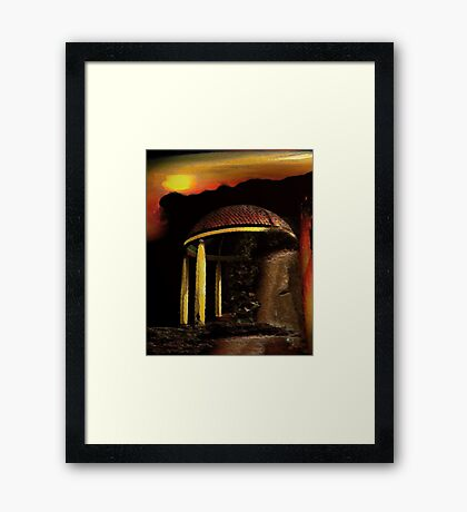 ancient pavilion....... abstract time structures Framed Print