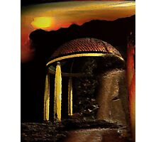 ancient pavilion....... abstract time structures Photographic Print