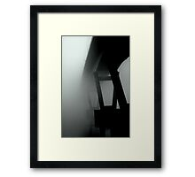 Mission Bridge in the Fog Framed Print