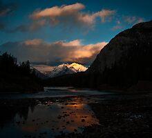 Bow River, Banff, Alberta, Canada by Charles Plant