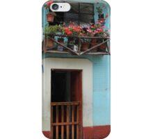 Door With Wood Balcony iPhone Case/Skin