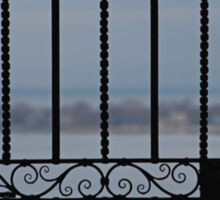 Through the Wrought Iron Gate Sticker