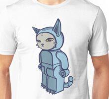 Blocky Cat Robot Blue Unisex T-Shirt