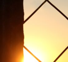 Sunset behind the fence... Sticker