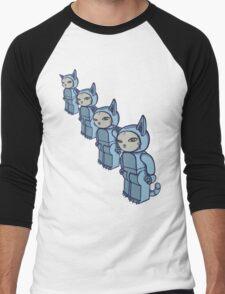 4 Blocky Cat Robot Blue T-Shirt