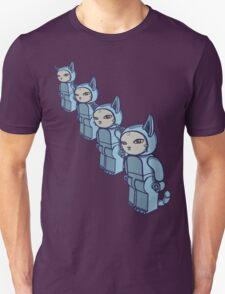 4 Blocky Cat Robot Blue Unisex T-Shirt