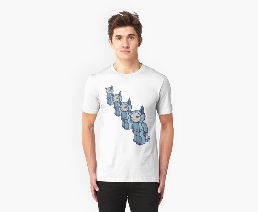 4 Blocky Cat Robot Blue by Adew