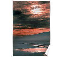 Icy Puddle - Utah Lake Poster