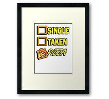 SIngle taken pizza checkboxes ticks Framed Print