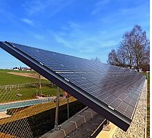 Solar panels in amazing perspective view   architectural photography by Patrick Jobst