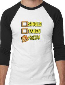 SIngle taken pizza checkboxes ticks Men's Baseball ¾ T-Shirt