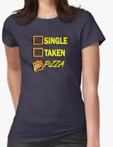 SIngle taken pizza checkboxes ticks Womens Fitted T-Shirt