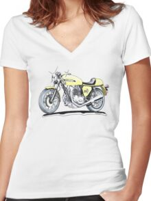 Ducati 750 Sport 1971 Women's Fitted V-Neck T-Shirt