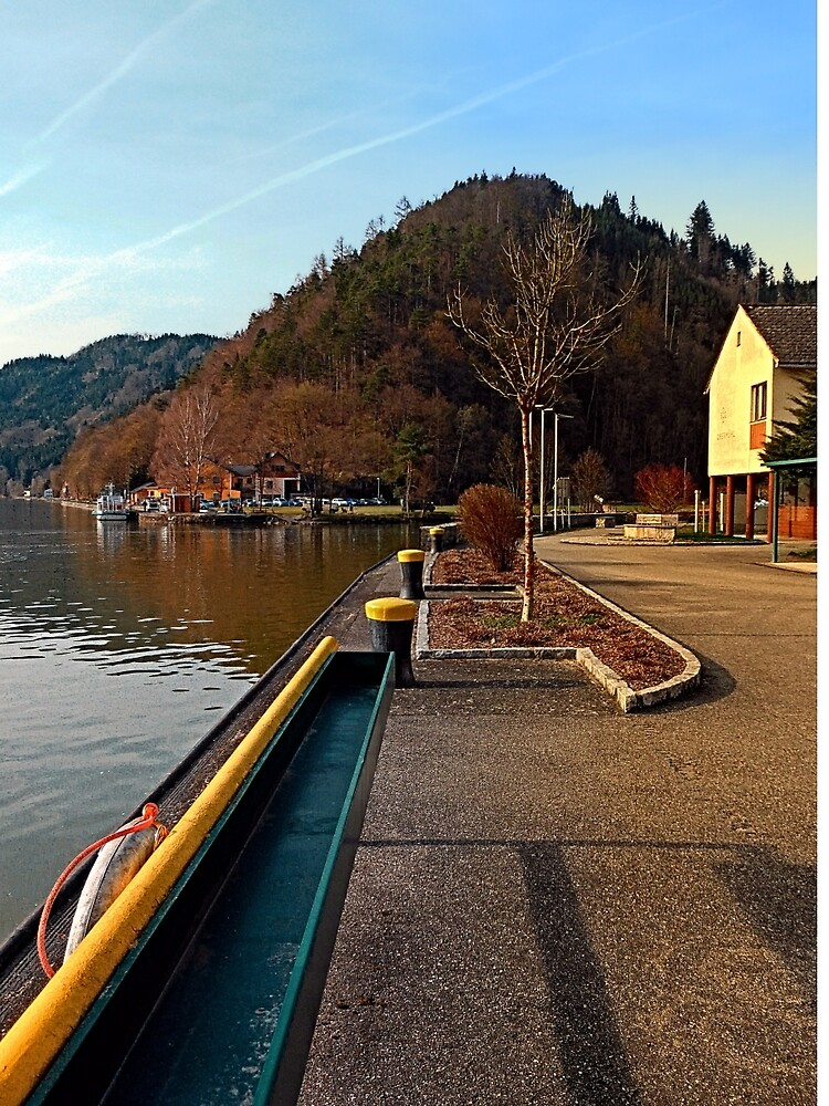 River Danube valley, at the harbour   waterscape photography by Patrick Jobst