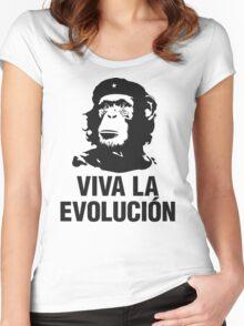 VIVA LA EVOLUCION Women's Fitted Scoop T-Shirt