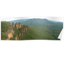 Three sisters pano Poster